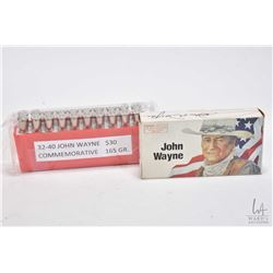 Original 20 count box of Winchester John Wayne .32-40 165 grain commemorative collector ammunition a