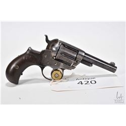 Antique handgun Colt model 1877 DA Thunderer, .41 Long Colt six shot double action revolver, w/ bbl