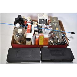 Selection of gun cleaning equipment including gun oil, pads, bore shine, two Kleen Bore cleaning kit