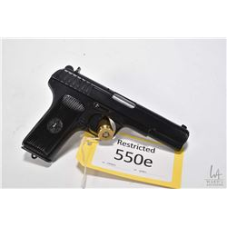 Restricted handgun Tokarev model TT33 (RSA, Tula), 7.62mm Tokarev eight shot semi automatic, w/ bbl