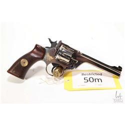 Restricted handgun Enfield model No. 2 MK 1, .38 S& W six shot double action revolver, w/ bbl length