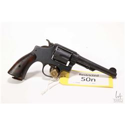 Restricted handgun Smith & Wesson model Victory, .38 S&W six shot double action revolver, w/ bbl len