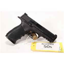 Restricted handgun Smith & Wesson model M&P 40, .40 S&W ten shot semi automatic, w/ bbl length 108mm