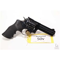 Restricted handgun Ruger model GP 100, .357 magnum six shot double action revolver, w/ bbl length 10