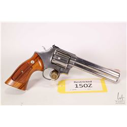 Restricted handgun Smith & Wesson model 686, .357 Mag 6 shot double action revolver, w/ bbl length 1