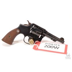 Prohib 12-6 handgun Smith & Wesson model Victory, .38 Special six shot double action revolver, w/ bb