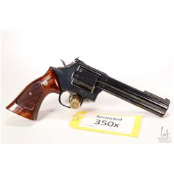 Restricted handgun Smith & Wesson model 586-3, .357 Magnum six shot double action revolver, w/ bbl l