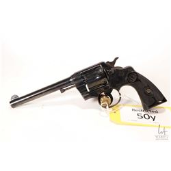 Restricted handgun Colt model Army Special, .38 Spcl six shot double action revolver, w/ bbl length