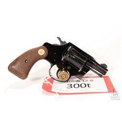 Prohib 12-6 handgun Colt model Cobra, .38 Spcl six shot double action revolver, w/ bbl length 51mm [