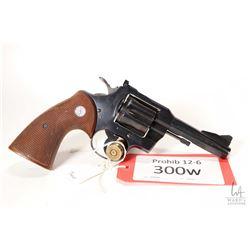 Prohib 12-6 handgun Colt model .357, .357 Magnum six shot double action revolver, w/ bbl length 102m