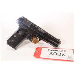 Prohibited handgun Colt model 1903 Pocket Hammerless, .32 auto eight shot semi automatic, w/ bbl len