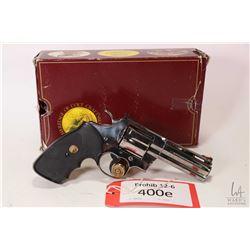 Prohib 12-6 handgun Colt model Python (Dated 1989), .357 magnum six shot double action revolver, w/