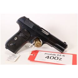 Prohib 12-6 handgun Colt model 1903 Pocket Hammerless, .32 auto eight shot semi automatic, w/ bbl le