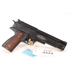 Air gun Weihrauch model HW45, .22 [Blued style finish. Fixed front and adjustable rear fiber optic s