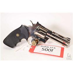Prohib 12-6 handgun Colt model Python, .357 Magnum six shot double action revolver, w/ bbl length 10