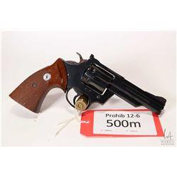Prohib 12-6 handgun Colt model Trooper MK III, .357 Magnum six shot double action revolver, w/ bbl l