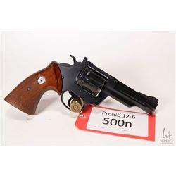 Prohib 12-6 handgun Colt model Border Patrol, .357 Magnum six shot double action revolver, w/ bbl le