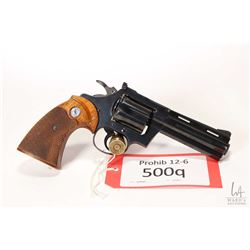 Prohib 12-6 handgun Colt model Diamondback, .38 Spcl six shot double action revolver, w/ bbl length