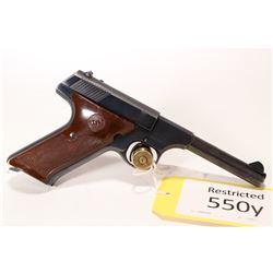 Restricted handgun Colt model Challenger, .22 LR ten shot semi automatic, w/ bbl length 114mm [Blued