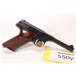 Restricted handgun Colt model Challenger, .22 LR ten shot semi automatic, w/ bbl length 114mm [Blued