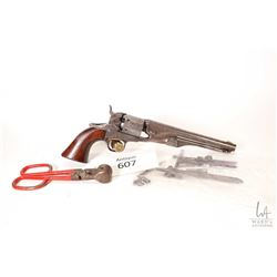 Antique handgun Colt model 1861 Navy, .36 Percussion six shot single action revolver, w/ bbl length