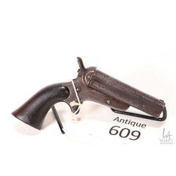 Antique handgun Sharps model Pepperbox, .32 RF four shots single action, w/ bbl length 90mm [Worn bl
