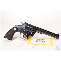 Restricted handgun Colt model Officer's Model Target, .38 Spcl six shot double action revolver, w/ b