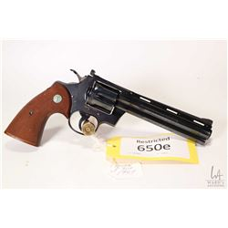 Restricted handgun Colt model Python, .357 Magnum six shot double action revolver, w/ bbl length 152