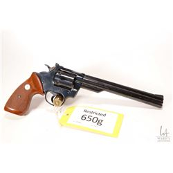 Restricted handgun Colt model Trooper MK II, .22 LR six shot double action revolver, w/ bbl length 2