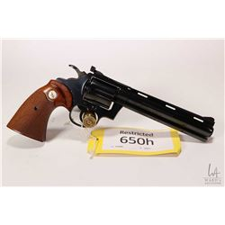Restricted handgun Colt model Diamondback, .38 Spcl six shot double action revolver, w/ bbl length 1