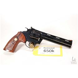 Restricted handgun Colt model Boa, .357 Magnum six shot double action revolver, w/ bbl length 152mm
