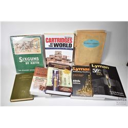 Selection of firearms related books including two Lyman Reloading books, a Lee Reloading book, Barns