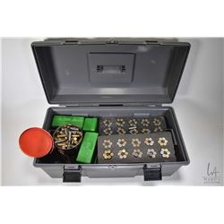 Grey Mastercraft tool box filled with reloads including seven foam pads containing 60 rounds each of
