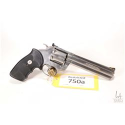 Restricted handgun Colt model King Cobra, .357 Magnum six shot double action revolver, w/ bbl length