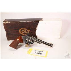 Restricted handgun Colt model Trooper MK III, .357 Magnum six shot double action revolver, w/ bbl le