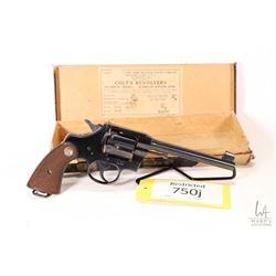 Restricted handgun Colt model Officer's model, .38 Spcl six shot double action revolver, w/ bbl leng