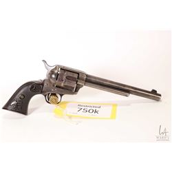 Restricted handgun Colt model Frontier Six Shooter, .44-40 Win six shot single action revolver, w/ b
