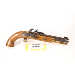 Restricted handgun CVA model Hawken, .50 cal single shot flint lock, w/ bbl length 228mm [Blued octa
