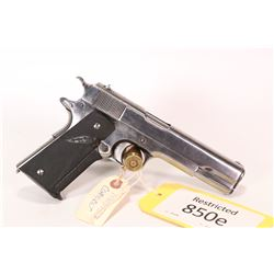 Restricted handgun Colt model 1911 US Army, .45 ACP seven shot semi automatic, w/ bbl length 127mm [