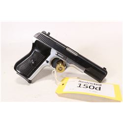 Restricted handgun Norinco model NP17, 9mm luger semi automatic, w/ bbl length 109mm [Blued slide wi