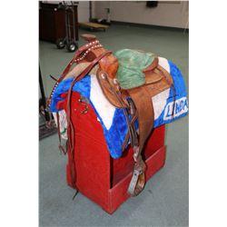 Ladies Western Pleasure riding saddle by Cloverbar Saddlery Company, Edmonton, Alberta including han