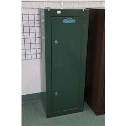 "Homsafe metal gun locker 55""X 21"" X16"", includes key"