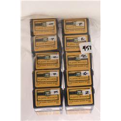 Ten 50 count boxes of Speer Bullet .45 cal plastic bullets.