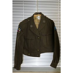 Wool bomber jacket with patches and insignia for the Belgian Army