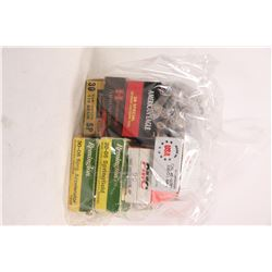 Selection of ammunition including 50 count box of PMC 9mm luger 115 grain, a 50 count box of Olin .4