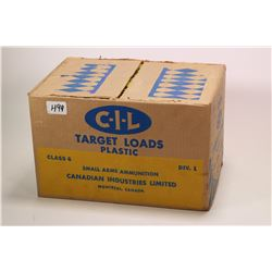 """Case containing twenty boxes of 25 count CIL target loads, 12 gauge 2 3/4"""" No.9 shells ( 500 total s"""