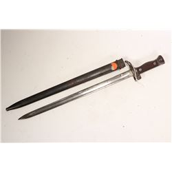 French model 1892 bayonet with scabbard.