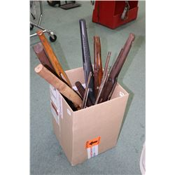 Box lot of assorted rifle barrels and stocks including wood and polymer (PAL REQUIRED)