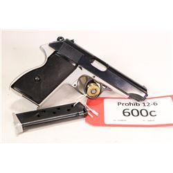 Prohib 12-6 handgun FEG model PA-63, .380 ACP eight shot semi automatic, w/ bbl length 100mm [Blued