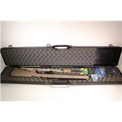 Hard case and contents including eight arrows, three broadheads and 1 pkg replacement blades, Hogue